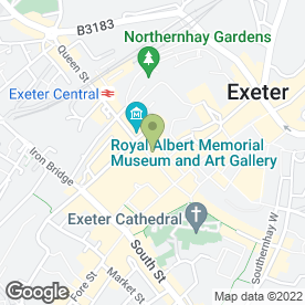 Map of The Card Gallery in Exeter, devon