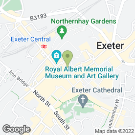 Map of Mobile in Exeter, devon