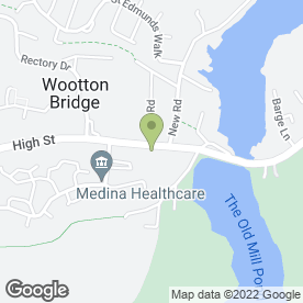 Map of The Medina Veterinary Group in Ryde, isle of wight
