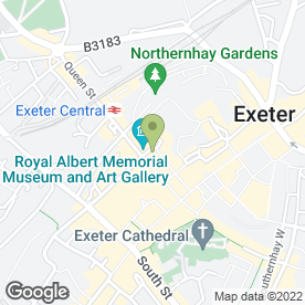 Map of Iris Boutique in Exeter, devon