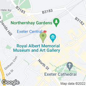 Map of Sense in Exeter, devon