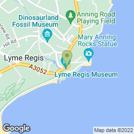 Map of Aroma in Lyme Regis, dorset