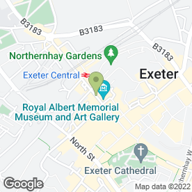 Map of Starbucks Coffee in EXETER, devon