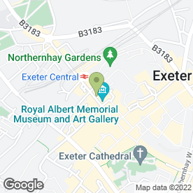 Map of WBW Solicitors in Exeter, devon