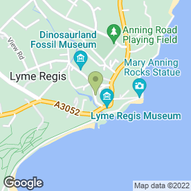 Map of Dannis 2 in Lyme Regis, dorset