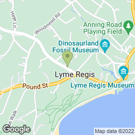 Map of Making Waves in Lyme Regis, dorset