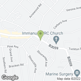 Map of St. Pauls Garage Service Centre in Bournemouth, dorset