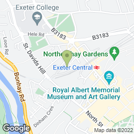 Map of Platinum Living Devon Ltd in Exeter, devon