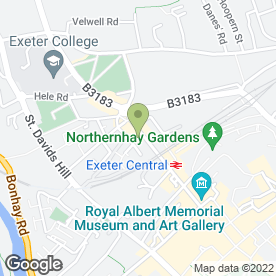 Map of The Co-operative Food in Exeter, devon