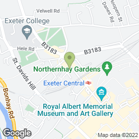 Map of DAVID FRUMIN & ASSOCIATES CHARTERED ACCOUNTANTS in Exeter, devon