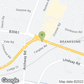 Map of PINE PLACE in Branksome, Poole, dorset