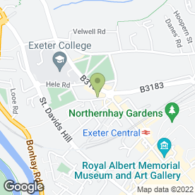 Map of Contemporary Dental in Exeter, devon