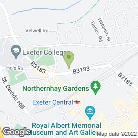Map of Spangle Graphics in Exeter, devon