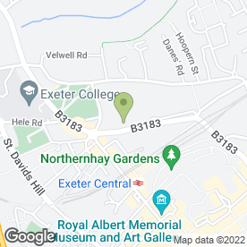 Map of Clock Tower Hotel in Exeter, devon