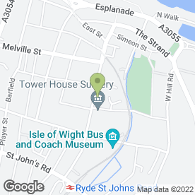Map of A K J M in Ryde, isle of wight