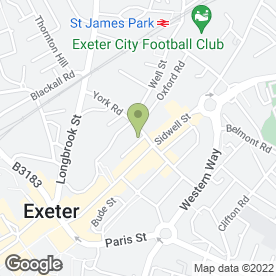 Map of York Road Surgery in Exeter, devon
