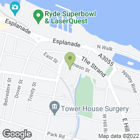 Map of Shaws Self Drive Plant Hire in Ryde, isle of wight