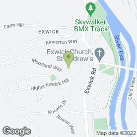 Map of Exe-Press Printers in Exeter, devon