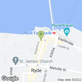 Map of Heyes Samuel Solicitors in Ryde, isle of wight