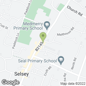 Map of De Levante in Selsey, Chichester, west sussex