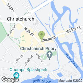 Map of Robinsons Dental Surgery in Christchurch, dorset