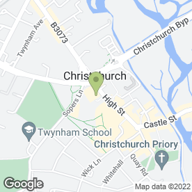 Map of Think Print in Christchurch, dorset