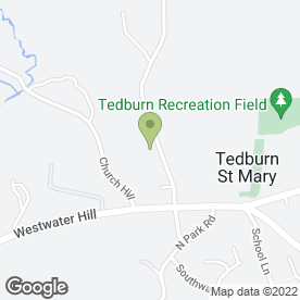 Map of Tedburn St. Mary P.O in Tedburn St. Mary, Exeter, devon