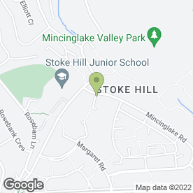Map of Stoke Hill Pre-School Group in Exeter, devon