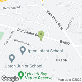 Map of Pet Health Partnership in Upton, Poole, dorset