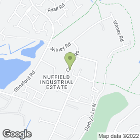 Map of Nuffield Accident Repair in Poole, dorset
