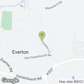 Map of Everton Post Office & Stores in Everton, Lymington, hampshire