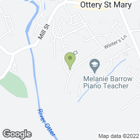 Map of Stephen Gill Plumbing, Heating & Bathroom in Ottery St. Mary, devon