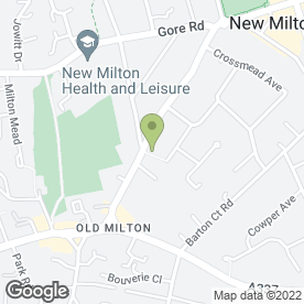 Map of Forest Arts Centre in New Milton, hampshire