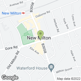Map of KIMBERS FLOORING SPECIALISTS in New Milton, hampshire