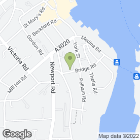 Map of BANNISTERS GARAGE in Cowes, isle of wight