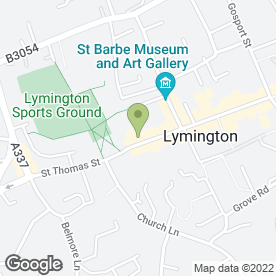 Map of Ultra Force Group (UFg) in Lymington, hampshire