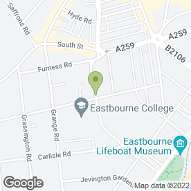 Map of Beech House Dental Practice in Eastbourne, east sussex