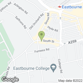 Map of Flatpack Brighton in Eastbourne, east sussex