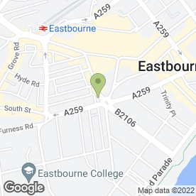 Map of Ministry of Beauty in Eastbourne, east sussex