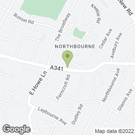 Map of Kinson Tyre Service in Bournemouth, dorset