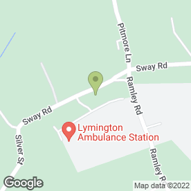 Map of PETER COOPER in Pennington, Lymington, hampshire
