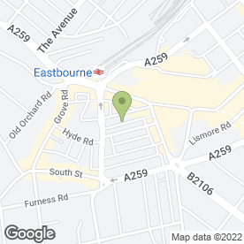 Map of Divine Nails in Eastbourne, east sussex