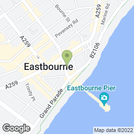 Map of Savoy Court Hotel in Eastbourne, east sussex