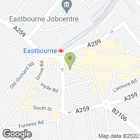 Map of Hoisum in Eastbourne, east sussex