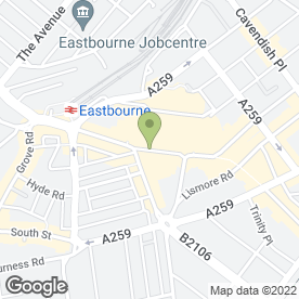 Map of Lloyds TSB Bank plc in Eastbourne, east sussex