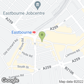 Map of Savers Health & Beauty Ltd in Eastbourne, east sussex