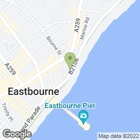 Map of Marine Parade Hotel in Eastbourne, east sussex