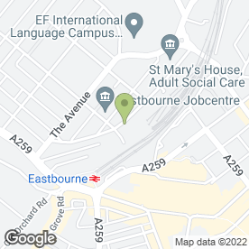Map of STICKY FINGERS STUDIOS in Eastbourne, east sussex