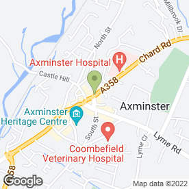 Map of Axminster Kitchens & Bathrooms Ltd in Axminster, devon