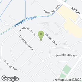 Map of a.c.g tree surgery in Eastbourne, east sussex